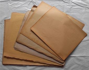Vintage âgés de papier, papier ancien, papier ancien, grand papier, papier de calligraphie (10 feuilles)