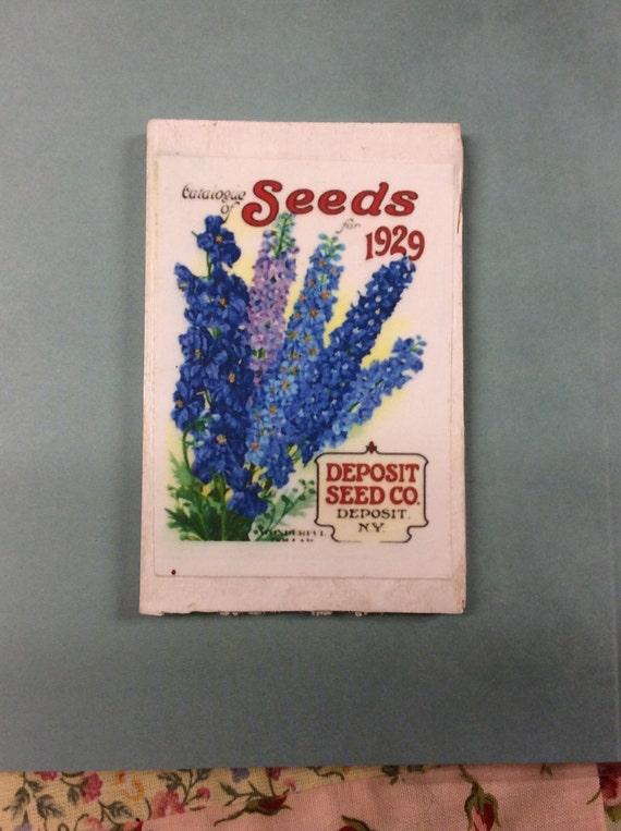 Seed Packet Garden Art- Miniature