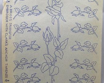 Roses Embroidery Transfer - Needlewoman & Needlecraft 83