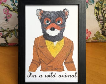 Fantastic Mr Fox Art Print Wes Anderson Illustration