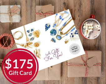 Pop and Glam Vintage Gift Card for 175 Dollars | Gift Certificate | Gift Idea | Stocking Stuffer | Mailed Gift Card