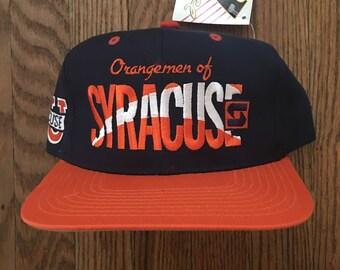 Vintage 90s Deadstock Syracuse Orangemen NCAA Snapback Hat Baseball Cap