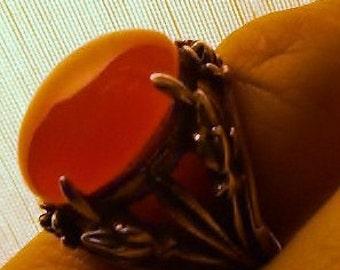 Vintage Art Nuveau Carnelion Ring