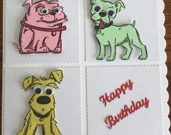 Funny dogs birthday card
