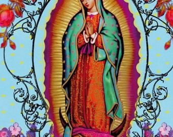 Virgin Guadalupe floral