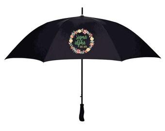 Sigma Alpha Floral Umbrella