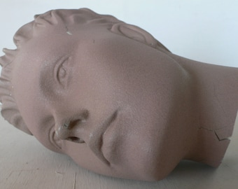 vintage mannequin head, androgynous, art supply, from Diz Has Neat Stuff