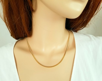 20 inch 18ct gold filled Cuban Curb Chain Necklace ( 2.5mm width )