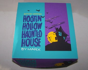 1960s Marx HOOTIN' HOLLOW HAUNTED HOuSE exquisite box reproduction,  12 x 11.5 x 9 complete with cardboard insert
