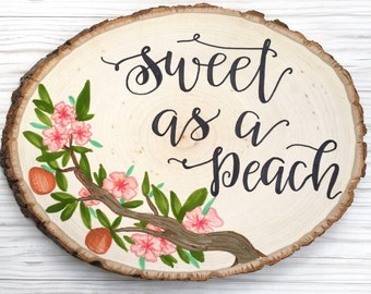 wood slice sign / full color sign / hand lettered wall hanging / quote sign / mr. & mrs. sign / wedding gift sign / rustic home decor.