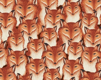 Windham Wild Woods Multi Fox Heads 1/2 Yard Fabric for Quilting 41124