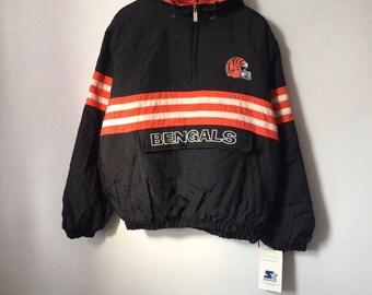 vintage cincinnati bengals starter jacket mens size large deadstock NWT 90s