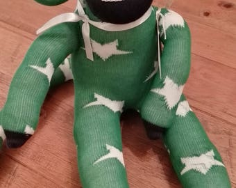 Handmade Bespoke Gift * SOCK MONKEY * CE safety tested
