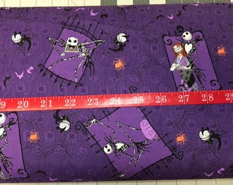 Nightmare Before Christmas Cotton Fabric by the 1/2 Yard