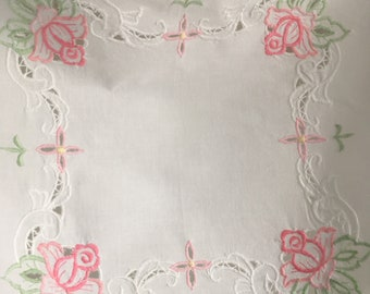 Vintage Cotton Embroidered Patio Tablecloth