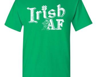 Irish AF St Patrick's Day Shamrock Leprechaun Men's Tee Shirt 1767