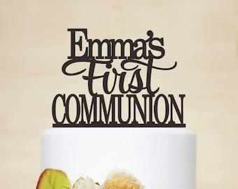 First Communion Cake Topper,Baptism Cake Topper With Name,Personalized Baptism Topper,Baptism Gift,Christening Topper,God Bless Topper A047