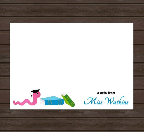 Personalized Note Card for Teacher/ Teacher Gift/ Set of 10