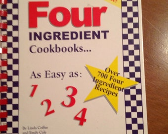 Vintage recipe book-4 ingredient cookbook