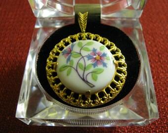 Vintage Danbury Mint Porcelain Pendant