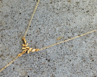 Y Necklace Gold, Dainty Lariat Necklace, Gold Lariat, Y Necklace For Women, Y Chain Necklace, Y Gold Necklace Chain, Delicate Y Necklace