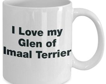 Glen of imaal terrier gifts - i love my dog - mug gift mom dad