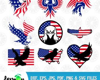 America Flag Eagle, 4th July Svg,  Patriotic SVG,American Flag Monogram, Memorial Day, Independence Day,  Instant Download, 33