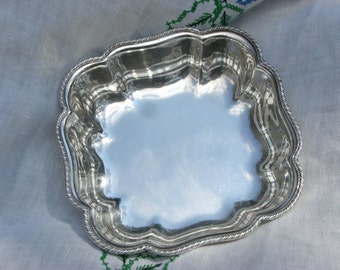Bowl - Silver Plate - Square - Prill Silver Co - Vintage