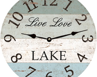 Live Love Lake Clock