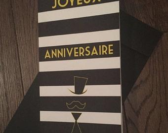 Carte Anniversaire Monsieur