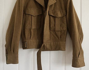 Vintage Olive Green Army Jacket