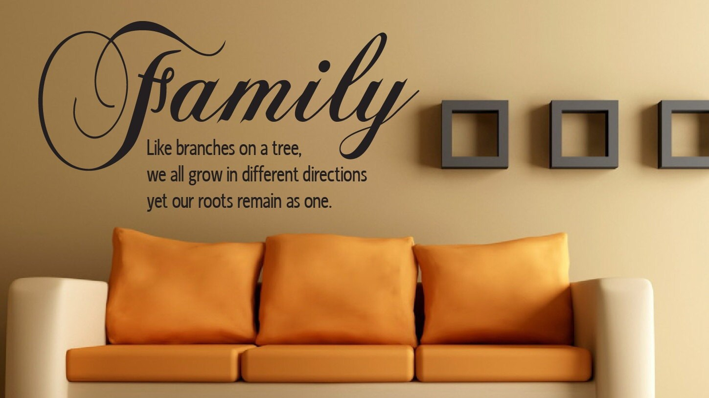Wall Quote Family Like Branches On A Tree 20x30