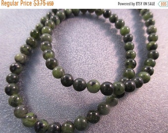 ON SALE 20% OFF Canadian Jade 5mm Round Beads 76pcs