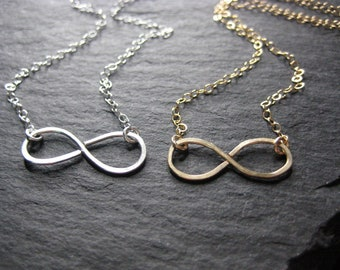 Necklace - Infinity Necklace - Silver Infinity Necklace - 14k Gold Fill Infinity Necklace