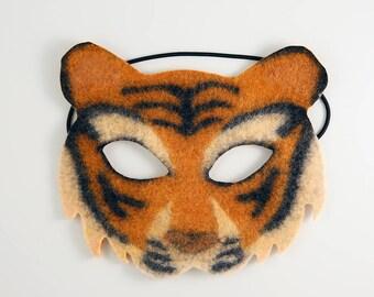 Felt Tiger Mask, Lao Hu Tiger Mask Orange, Felt Children's Mask