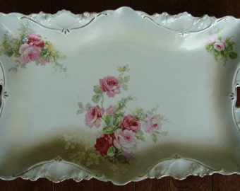 RS Prussia China Antique Dresser Tray