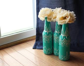 Painted Bottle Decorations