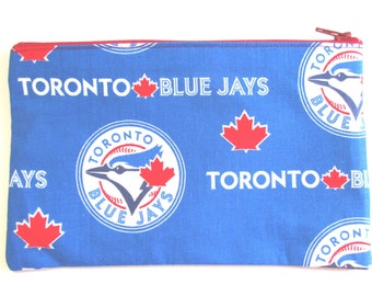 Toronto Blue Jays Fabric Pencil Case // Toronto Blue Jays Birthday // Toronto Blue Jays // Back to School