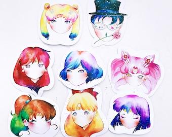 Watercolor Sailormoon Stickers