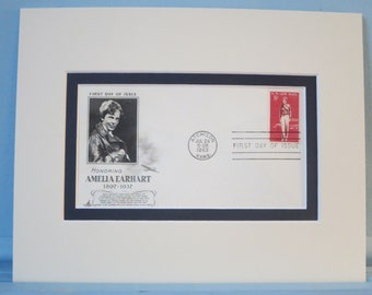Amelia Earhart - The First Female to fly across the Atlantic Ocean & First Day Cover of her own stamp