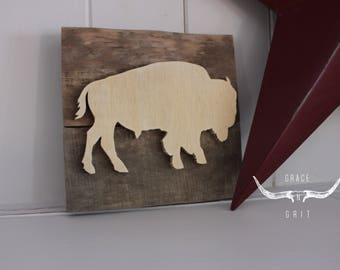 "Wooden mini - ""Natural buffalo"""