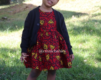 African dress, cardigan and hairbow/Ankara  dress/African babygirl clothes/baby set/ hairbow/Newborn clothes/African clothing/