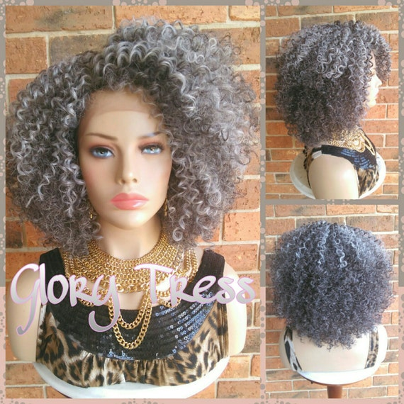 On Sale Kinky Curly Lace Front Wig Big Curly Afro Wig