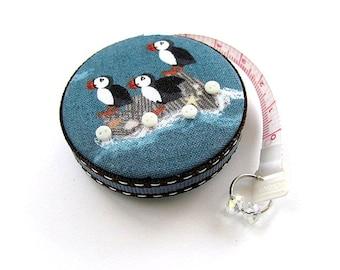 Tape Measure Puffin Birds Retractable Measuring Tape