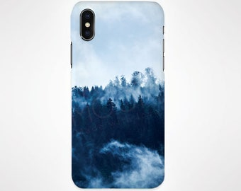 Pine Trees In Fog Phone Case for iPhone and Samsung, iPhone X, 8, 7, 6, 6s, Plus, 5s, 5c, Samsung, S8