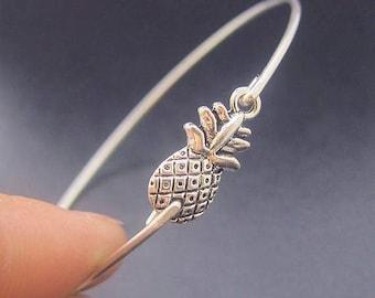 Pineapple Bracelet, Pineapple Jewelry, Hawaii Jewelry Theme, Hawaii Bracelet, Hawaii Bangle, Island Jewelry, Fruit Jewelry, Tropical Jewelry