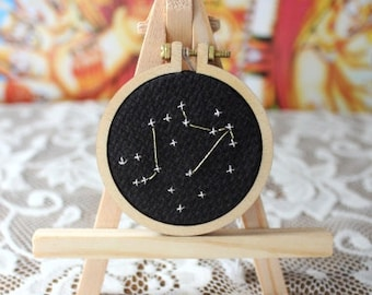 Cute Constellation Cross Stitch Button
