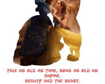 Beauty and the Beast Silhouette - Live action