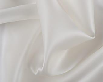 Eggshell Silk Satin Organza, Fabric By The Yard