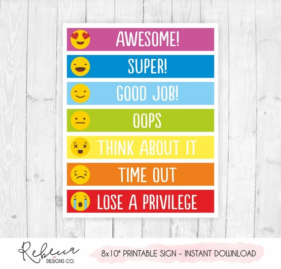 Behavior Chart Printable Behavior Chart Kids Behaviour Chart